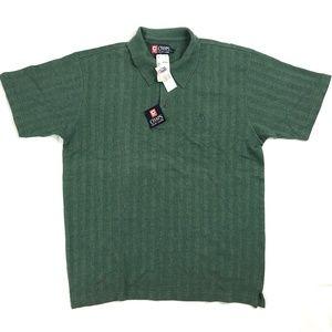 Chaps Ralph Lauren Polo Shirt Green Mens Sz L New